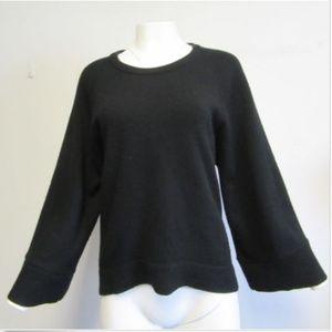 MICHAEL KORS black oversized hi- low sweater sz M